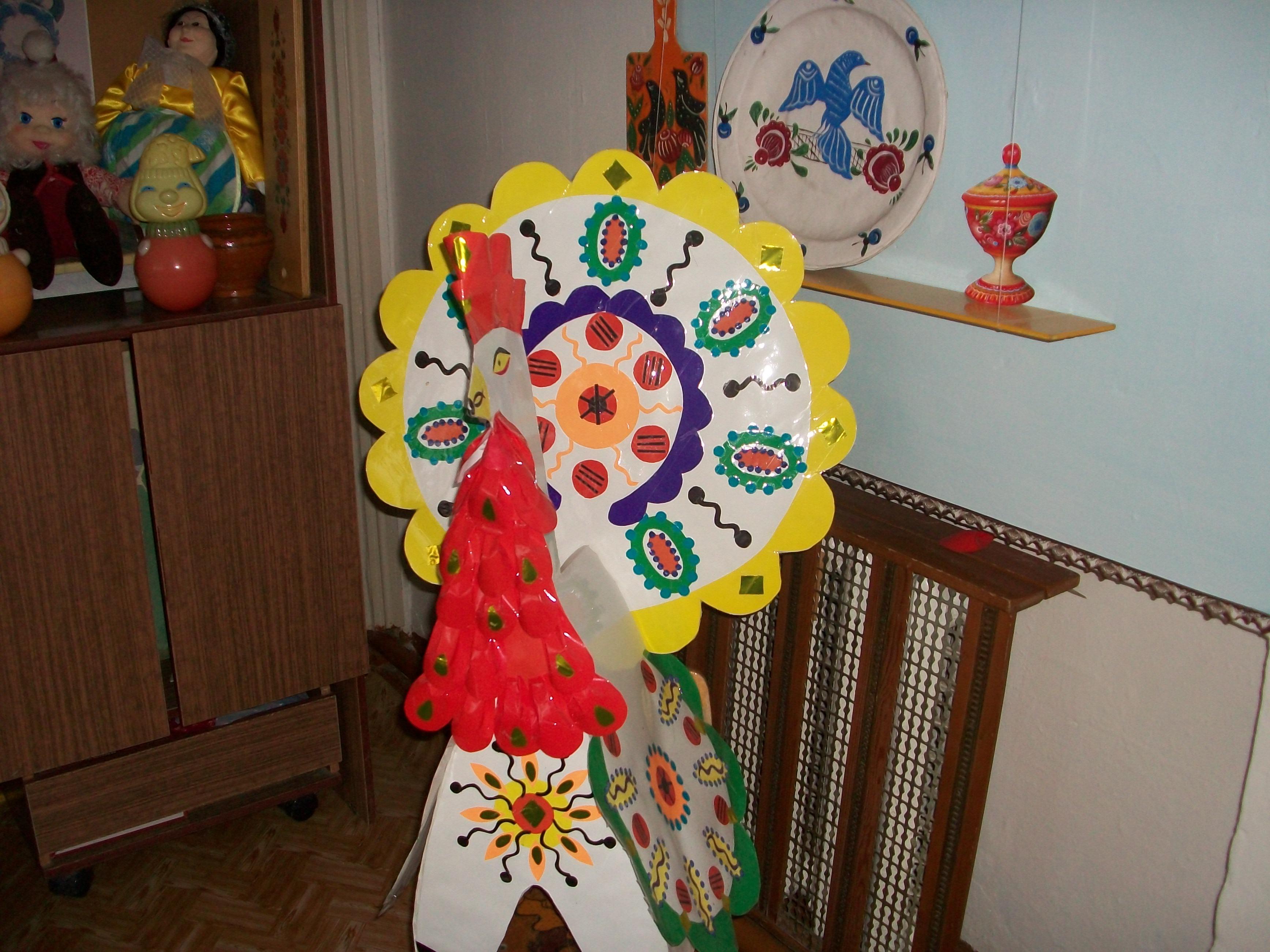Дымковская игрушка из бумаги объемная шаблон